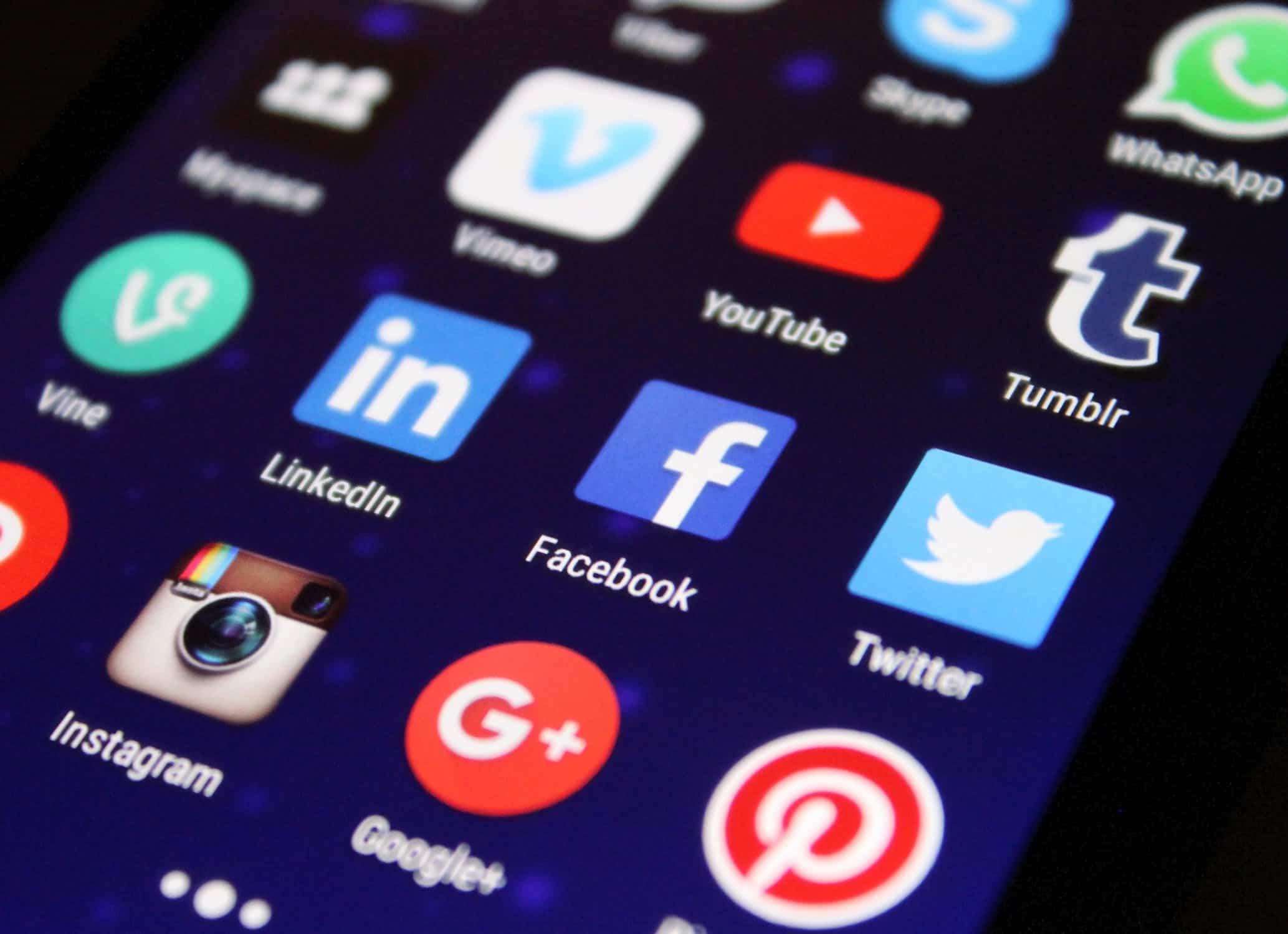 icone des réseaux sociaux sur un smartphone